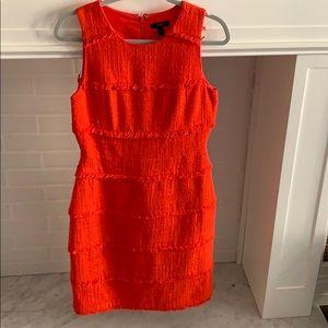JCrew Sunburst Orange Sleeveless Dress • Size 6